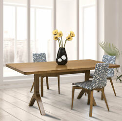 Corrigan Studio Colyt Burnished Extendable Solid Wood Dining Table