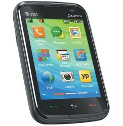 UNLOCKED Pantech P6030 Renue Smartphone AT&T T-Mobile Touch QWERTY Camera ~Black