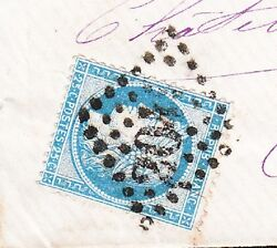 France Ceres Diamond Cancel 201 Limoges 1874 Cover 2w