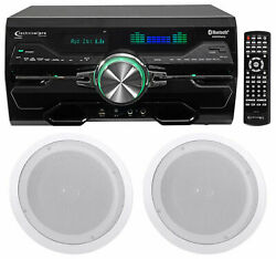 Technical Pro Dv4000 4000w Home Theater Dvd Receiver+2 8 Ceiling Speakers