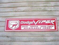 Dodge Viper Dealer/service Garage Artsign V-10 Muscle Car/speed Parts 1and039x4and039