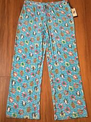 S Womens MAX STUDIO French Bulldog Dog Pajamas PJs Pants Sleep Lounge Puppy NWT