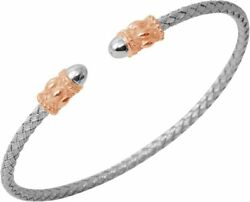 Charles Garnier - Colonna - Rose-gold-plated And Sterling Silver Cuff Bracelet