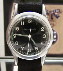 Jaeger Lecoultre Vintage 1940and039s Ww2 Raf 6b/159 Pilots Military Watch Black Dial
