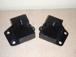 2 Front Engine Motor Mounts 1965-1968 Ford And Galaxie Ltd 352 390 427 428 V8
