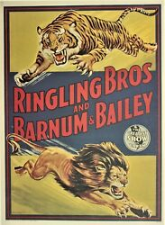 Ringling Bros And Barnum And Bailey Circus Vintage Advertising Poster 1980's