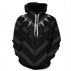 Sports Hoodies Black Panther Costume Sweater