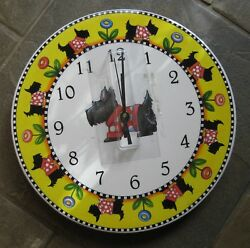 Mary Engelbreit Scottie Dog Quartz Wall Clock 2001