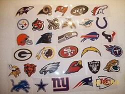 100ct. Nfl Logo Stickers Official Licensed