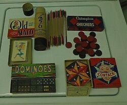 Lot Of 5 Vintage Toy Games In Original Boxes. 1939 To 1950's