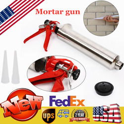 Grouting Mortar Sprayer Applicator Tool For Cement Lime Gun W/ 2 Plastic Nozzle