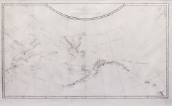 1778 And 1779 Chart Of The Nw Coast Of America And Ne Coast Of Asia Map
