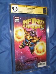 Infinity Wars Prime 1 Cgc 9.8 Ss Signed By George Perez Variant Death Of Thanos