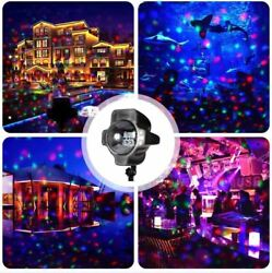 Snowfall Led Rgb Snowflakes Moving Projector Lights Christmas Garden Decorations