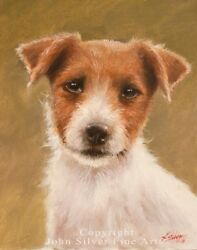 JACK RUSSELL TERRIER PORTRAIT ORIGINAL PAINTING by UK Master Artist JOHN SILVER