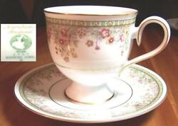 Noritake Ireland Morning Jewel Footed Cup And Saucer Set Multiples Available-y71