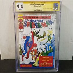 Amazing Spider-man Annual 1 German Cgc 9.4 Ss Stan Lee Only Signed Graded Copy