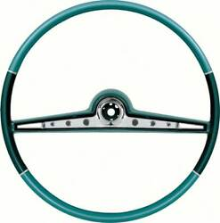 1962 Impala / Ss Two Tone Blue Steering Wheel And Horn Ring