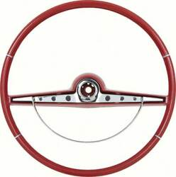 1963 Impala / Ss Red Steering Wheel W/ Horn Ring