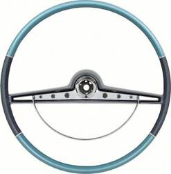 1963 Impala / Ss Two Tone Blue Steering Wheel W/ Horn Ring