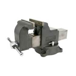 Wilton Ws6 Work Shop Bench Vise W/ 6in Jaw 3.5in Throat And Steel Swivel Base