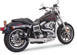 Bassani Chrome Road Rage II Mega Power 2-1 Exhaust for Harley 99-17 Dyna FXDB