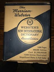 Webster's New International Dictionary Second Edition (Unabridged)