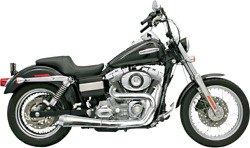 Bassani 2-1 Chrome 4 Road Rage Exhaust For 92-05 Harley Dyna Fxd Fxdl Fxdwg