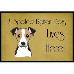 Carolines Treasures Bb1509mat Jack Russell Terrier Spoiled Dog Lives Here Ind...