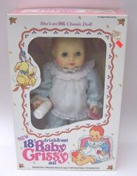 Baby Crissy 18 Ideal 1984 Doll W/bottle Drinks And Wets Nib