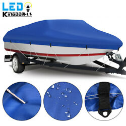 Premium 20and039 - 22and039 Waterproof Boat Cover Beam 100and039and039 Fits Fish Bass V-hull Boats