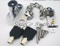 Safeco Brands Cl1 Keyed Plunger Door Window Chain Lock , Cabinets, Drawers