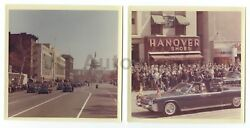 John F. Kennedy 2 1963 Vintage 5x5 Photos In Assassination Car W/ King Hussan