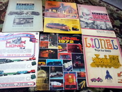 Vintage Lot Of 6 1960s-1970s Lionel Model Train Calalogs Cars Science Kits Toys