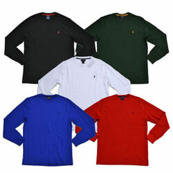 New Mens Polo Top Crew Waffle Thermal Top Small Medium Large Xl 2xl