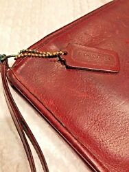 *RARE COACH PURSE* BROWN LEATHER VINTAGE MADE IN NEW YORK CITY CLUTCH HANDBAG