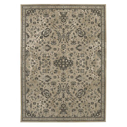 Karastan Gray Transitional Casual Bordered Bulbs Area Rug Floral 39478 22004