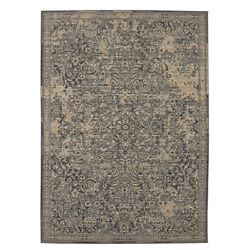 Karastan Ivory Transitional Casual Faded Bulbs Area Rug Bordered 39478 22005