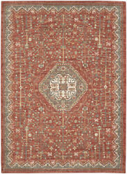 Karastan Red Transitional Casual Scrolls Bulbs Area Rug Medallion 91198 20038