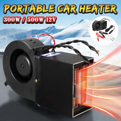 12V 300500W Portable Car Auto Heating Heater Warmer Window Defroster Demister !