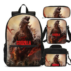 Godzilla Monster Art Teens Backpacks Insulated Lunch Bag Pen Case Cross Bags Lot $9.99