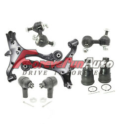 8pc Front Lower Control Arm Ball Joints Sway Bars Tie Rods For 2001-2005