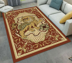 Animals Print Lion Flowers Area Rugs Living Room Carpets Floor Mat Bedroom Decor