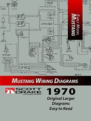 1970 Ford Mustang - Pro Wiring Diagram Manual Large Format/exploded View
