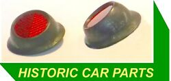 2 Rubber Mounted Rear Red Reflectors Austin 1 And 1½ Ton Ld1a 1955-60 Replace Rer2