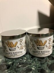 BATH amp; BODY WORKS CANDLE FRENCH BAGUETTE SET OF 2 SOLD OUT $50.00