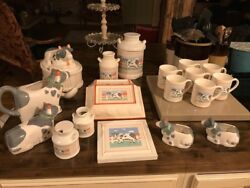 Vintage 1980s Peaches N Cream Cow Set By Himark