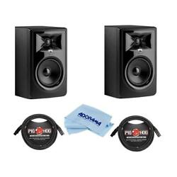 Jbl 2 Pack 306p Mkii Powered 6.5 2-way Studio Monitor W/2x 10and0398mm Xlr Mic Cable
