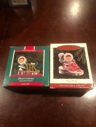 Hallmark Frosty Friends 1989 /1995 Christmas Ornaments With Boxes