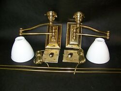Top Brass Co. Solid Brass Electric Wall Sconces 3 Way Brass Everything